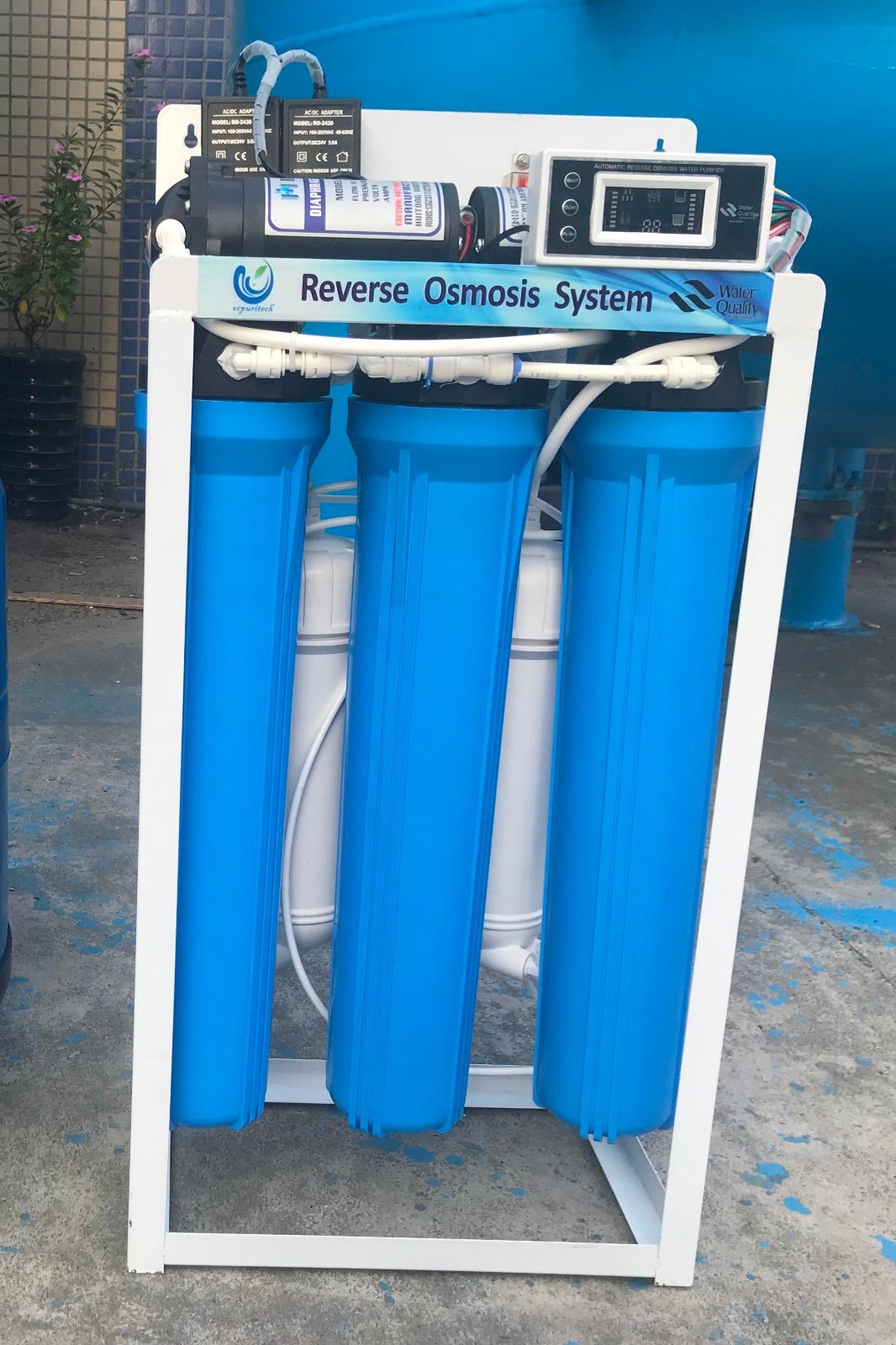 Ocpuritech-5 Stages Commercial Reverse Osmosis System Water Treatment Plant 400gpd-12