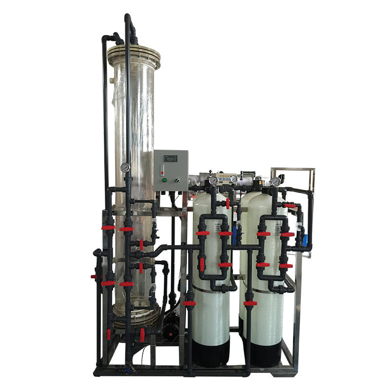 Water treatment deionized water system 1000L/H Ion exchange resins