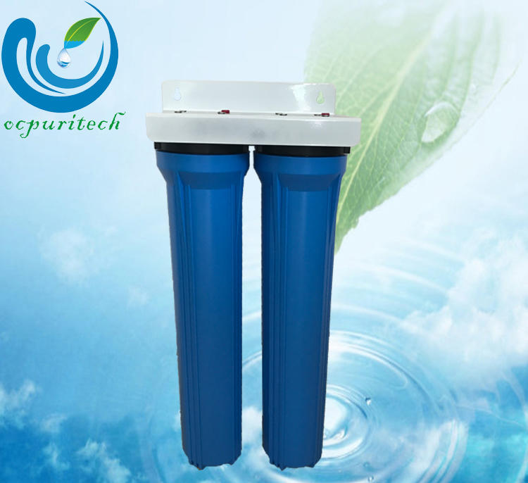 Hot withstand much pressure water filtration system 2 stages pretreatment Blue color Ocpuritech Brand