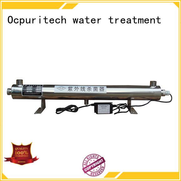 light ultraviolet water sterilizer ro for factory Ocpuritech