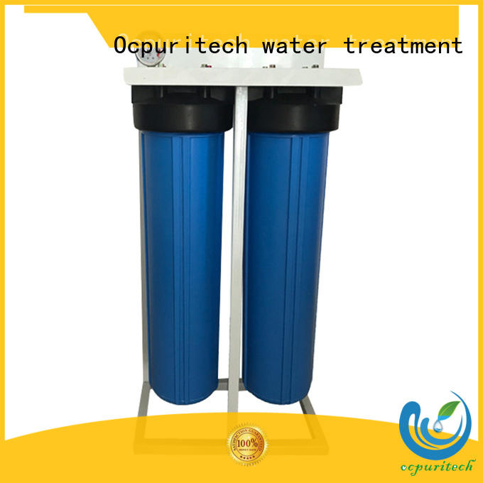 withstand much pressure thicker housing 2 stages pretreatment water filtration system Ocpuritech