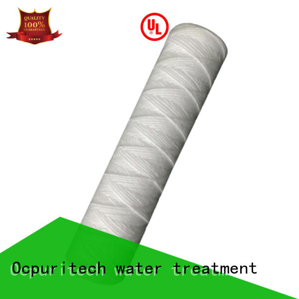 Ocpuritech micron string wound filter supplier for four star hotel