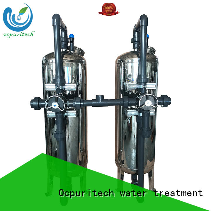 Sand filer+carbon filter reduce the turbidity of raw water 4-38 ℃ Operating temperature Ocpuritech Brand pressure filtration manufacture