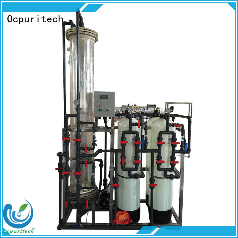 deionized water filter Ion exchange resins no so much waste water than ro Manual control type Ocpuritech Brand company
