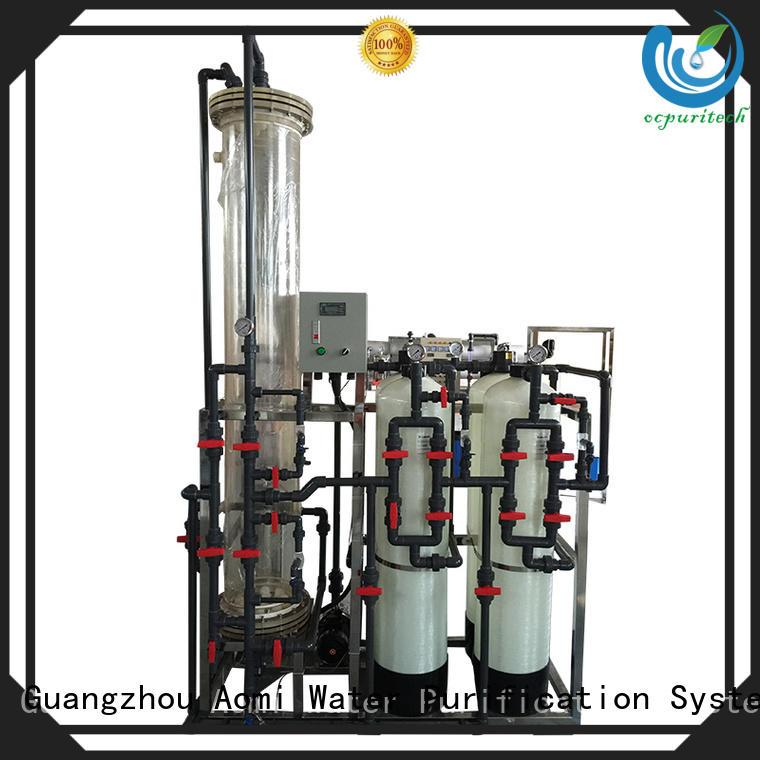 Custom resins exchange deionized water system Ocpuritech reverse osmosis
