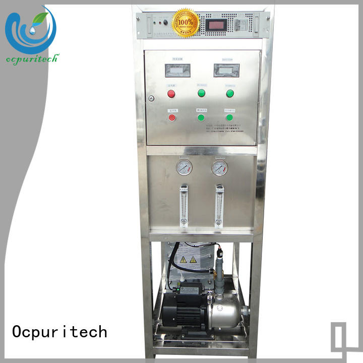 Ocpuritech Brand apply for Electronics Factory Micro controller/PLC Control type Total exchange anions (mg/L,as CaCO3) ≤35 electrodeionization manufacture