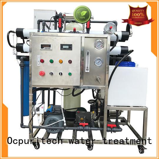 desalination machine 98% Desalination 32% Recovery seawater application Ocpuritech Brand company