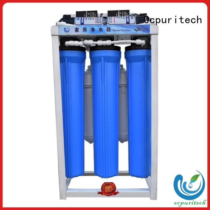 Automatic RO controller Flush 1:1 ratio of the product water to concentrate water raw water to drink water Vontron/Dow/CSM RO membrane Ocpuritech Brand commercial water filter supplier