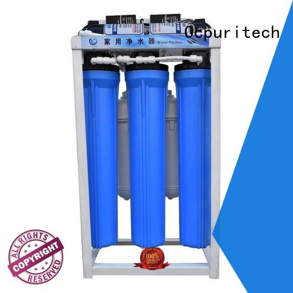 Ocpuritech Brand 1:1 ratio of the product water to concentrate water popular capacity:200GPD, 300GPD, 600GPD and 800GPD Water treatment Vontron/Dow/CSM RO membrane commercial water filter