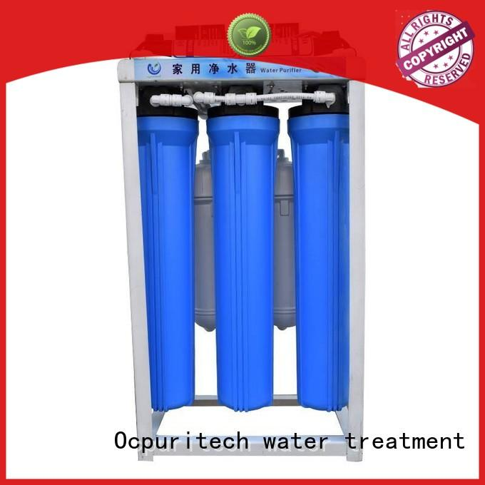 Custom Water treatment 43*23.5*78CM Machine Size commercial water filter Ocpuritech Automatic RO controller Flush
