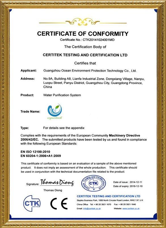 Ocpuritech-Uf Filter, 500lph Drinking Water Treatmentpurification Ultrafiltration-4