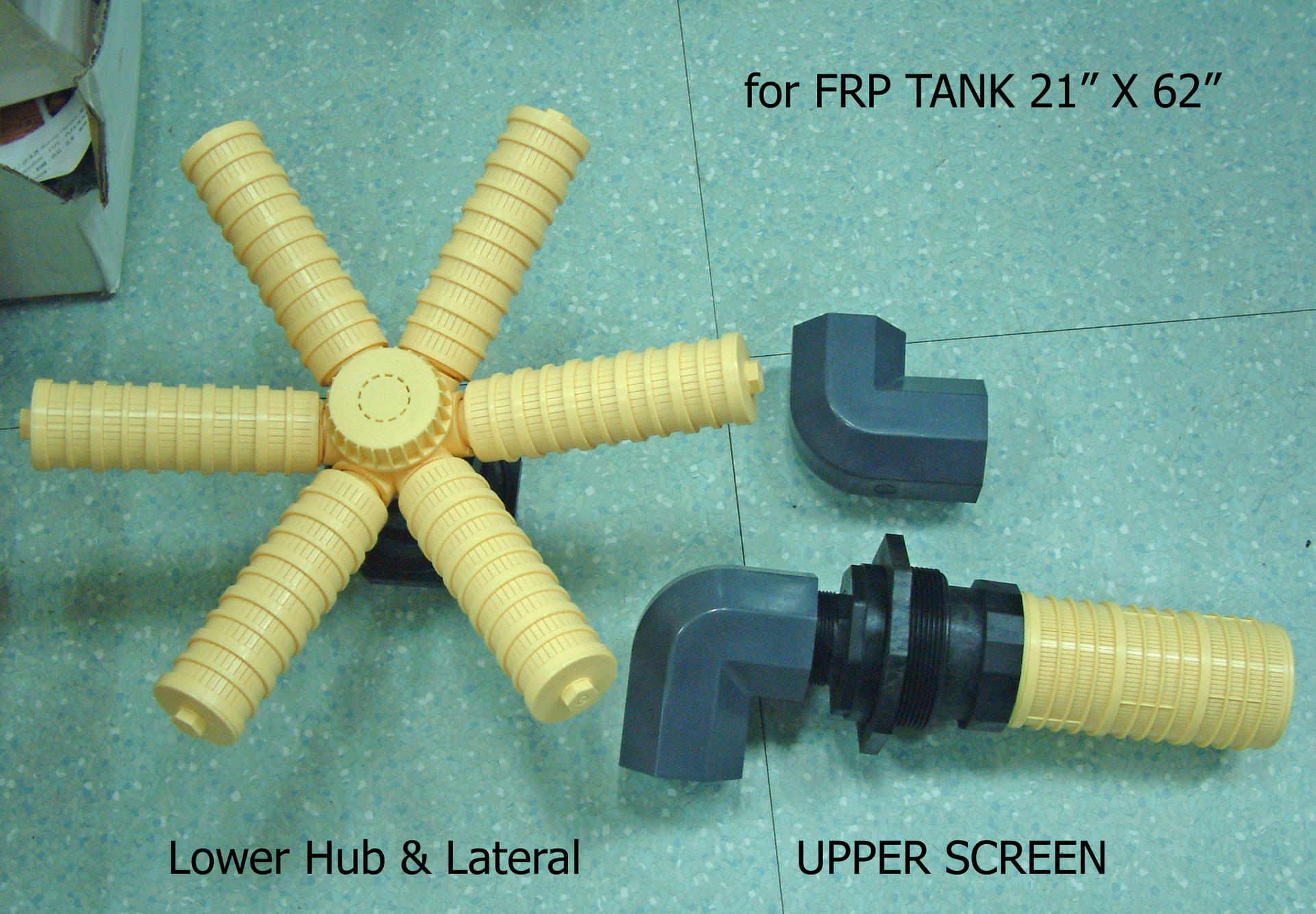 Ocpuritech Brand important element part, connect with frp tank for working durable water distributor Different colors are available factory