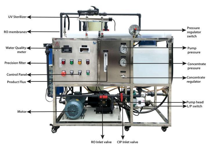 Ocpuritech 200lh water desalination series for chemical industry