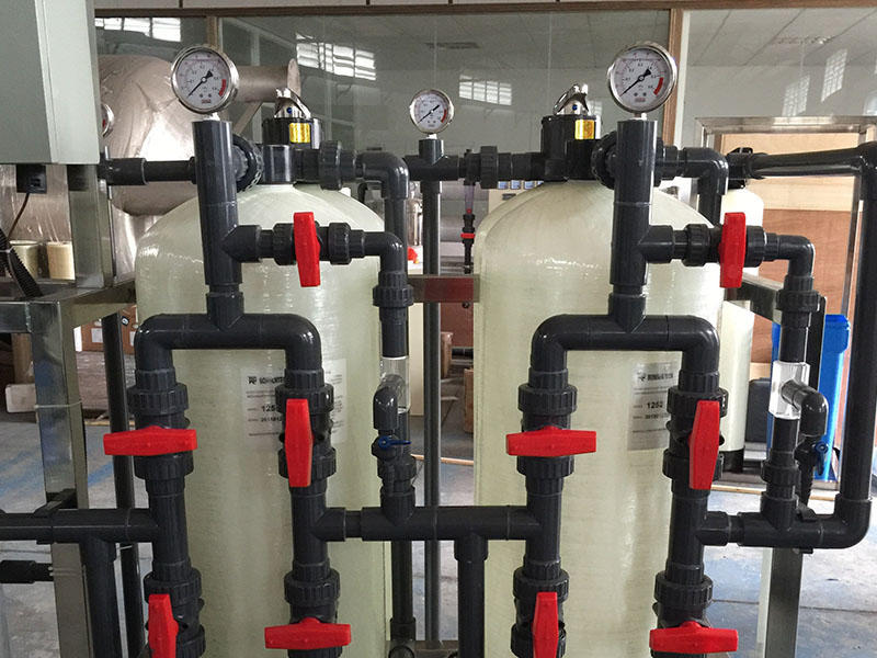 Water treatment deionized water system 1000L/H Ion exchange resins-3