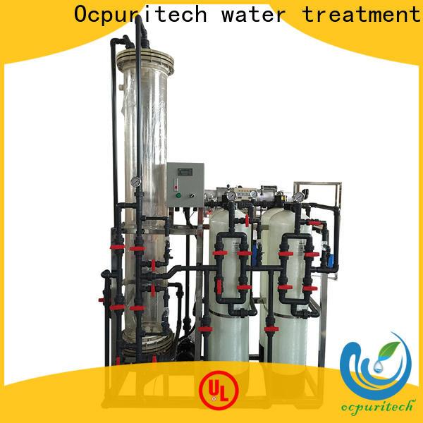 Ocpuritech 1000lh deionized water filtration system for medicine