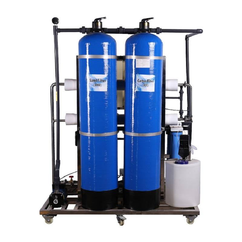 600lph water filter machine for drinking water small RO system water treatment plant